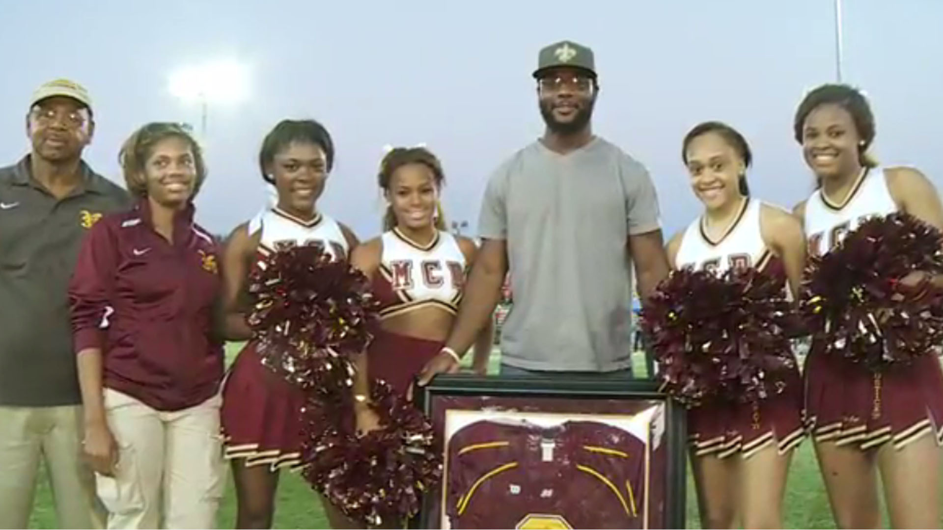 Saints player Delvin Breaux's jersey retired at high school alma ...
