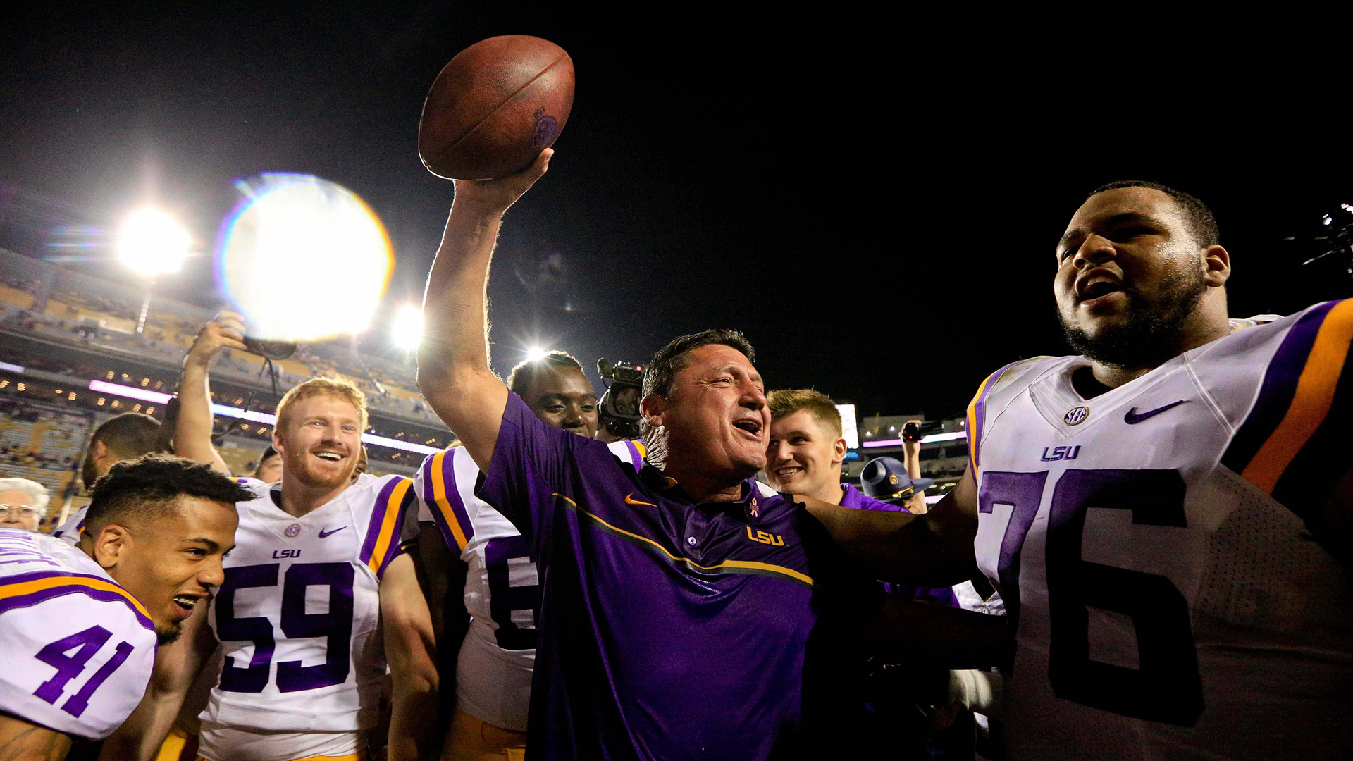 Orgeron A Different Coach Than The One Who Bombed At Ole Miss Wwltv Com